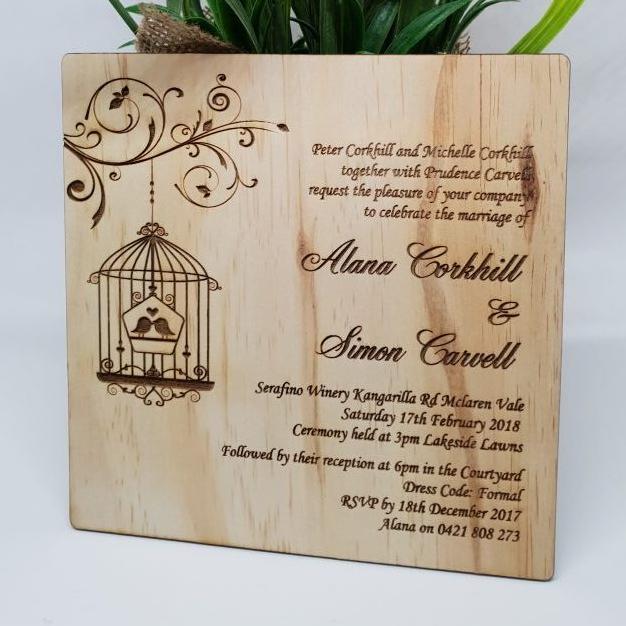 Birdcage Invitation