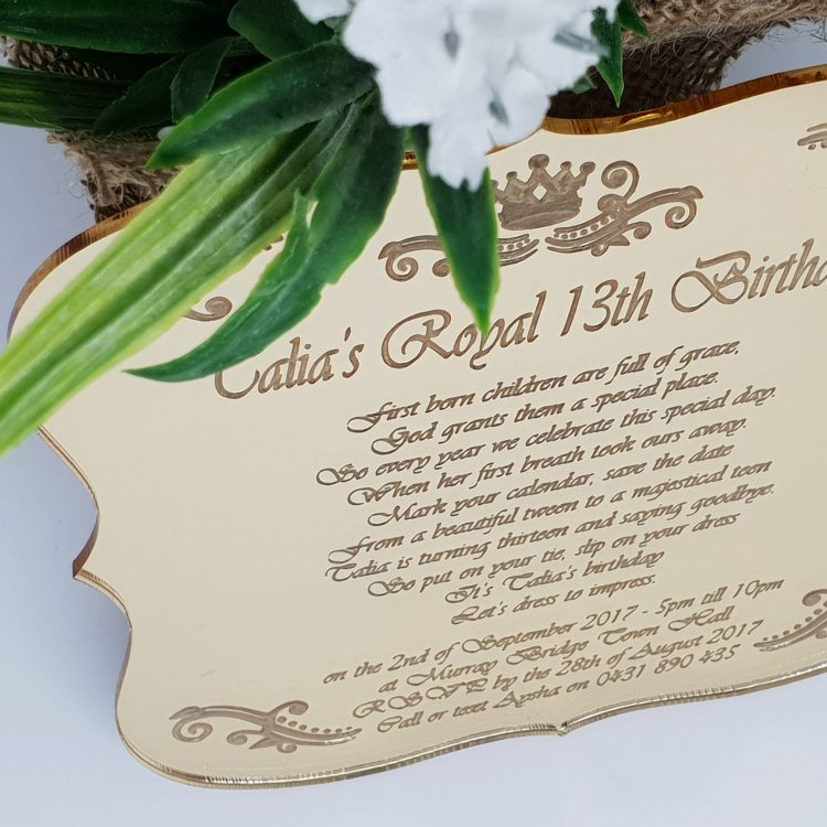 Royal Swirls Invitations