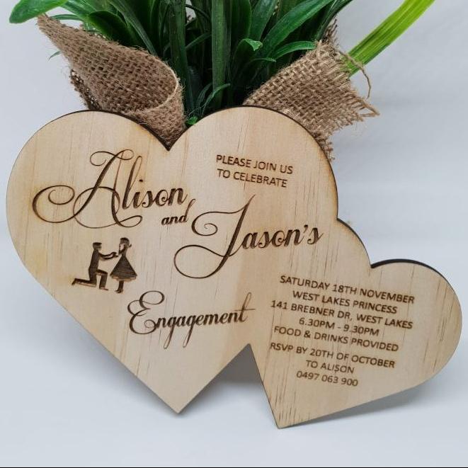 Double Heart Proposal Invitation
