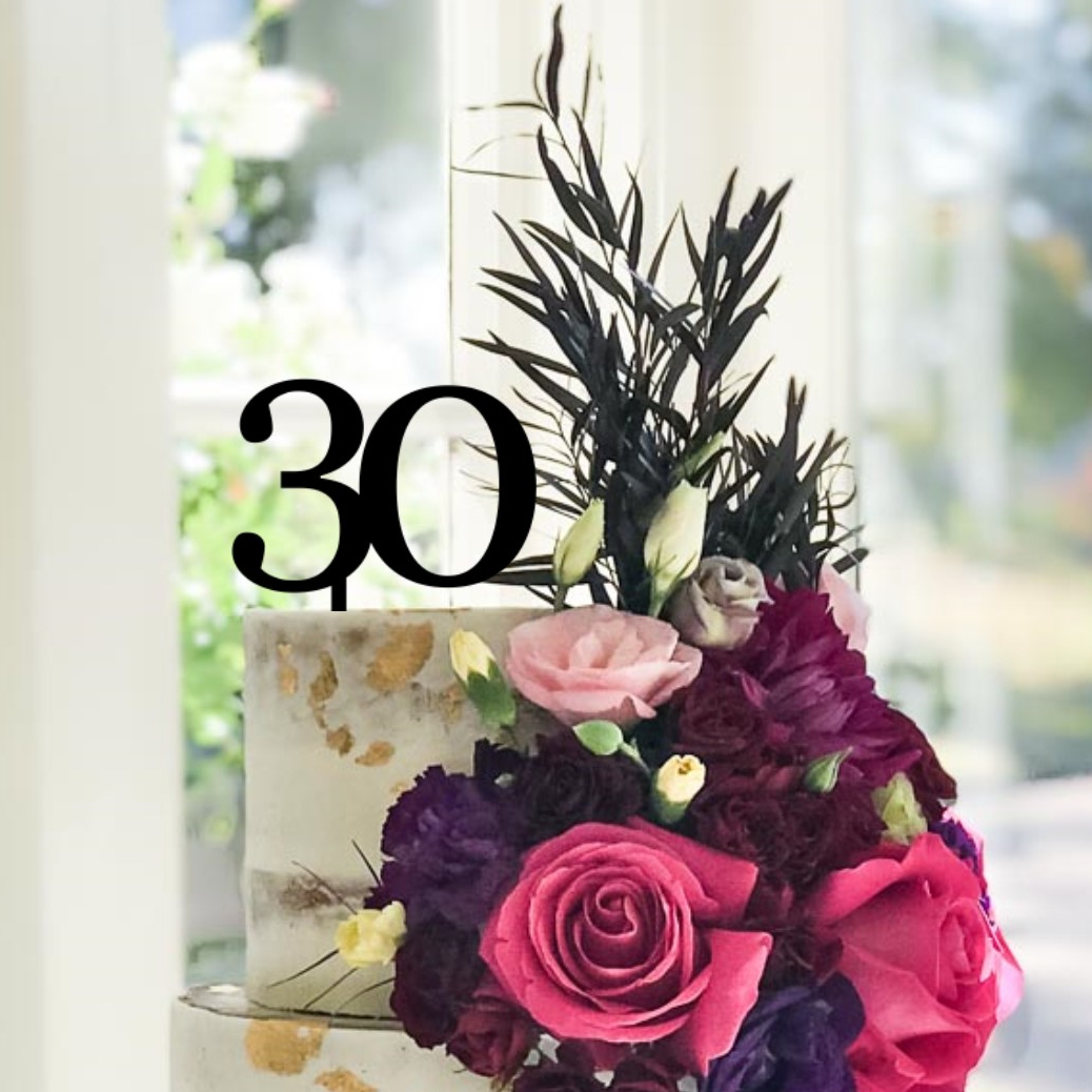 Quick Creations Cake Topper - 30