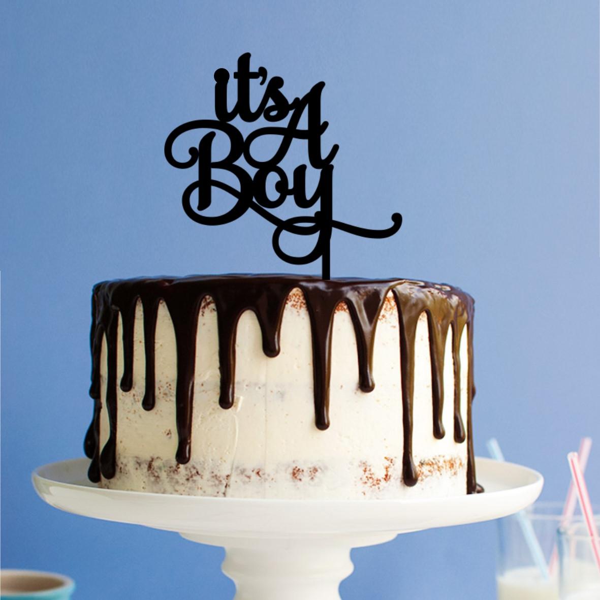 Its a Boy Cake Topper