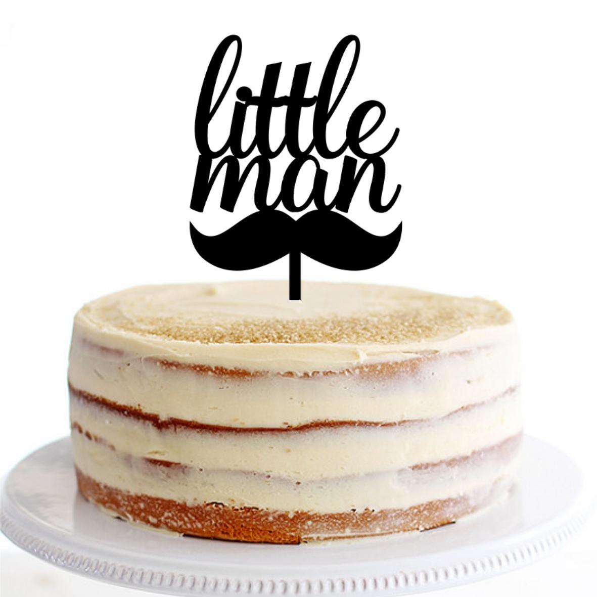 Little Man Moustache Cake Topper