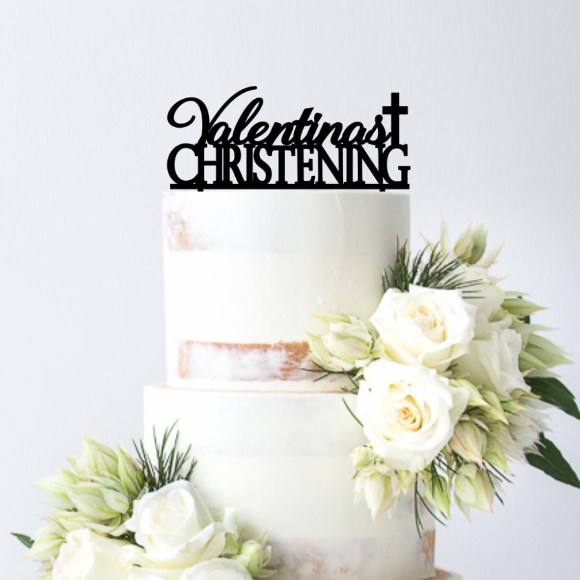 Personalised Christening Cake Topper
