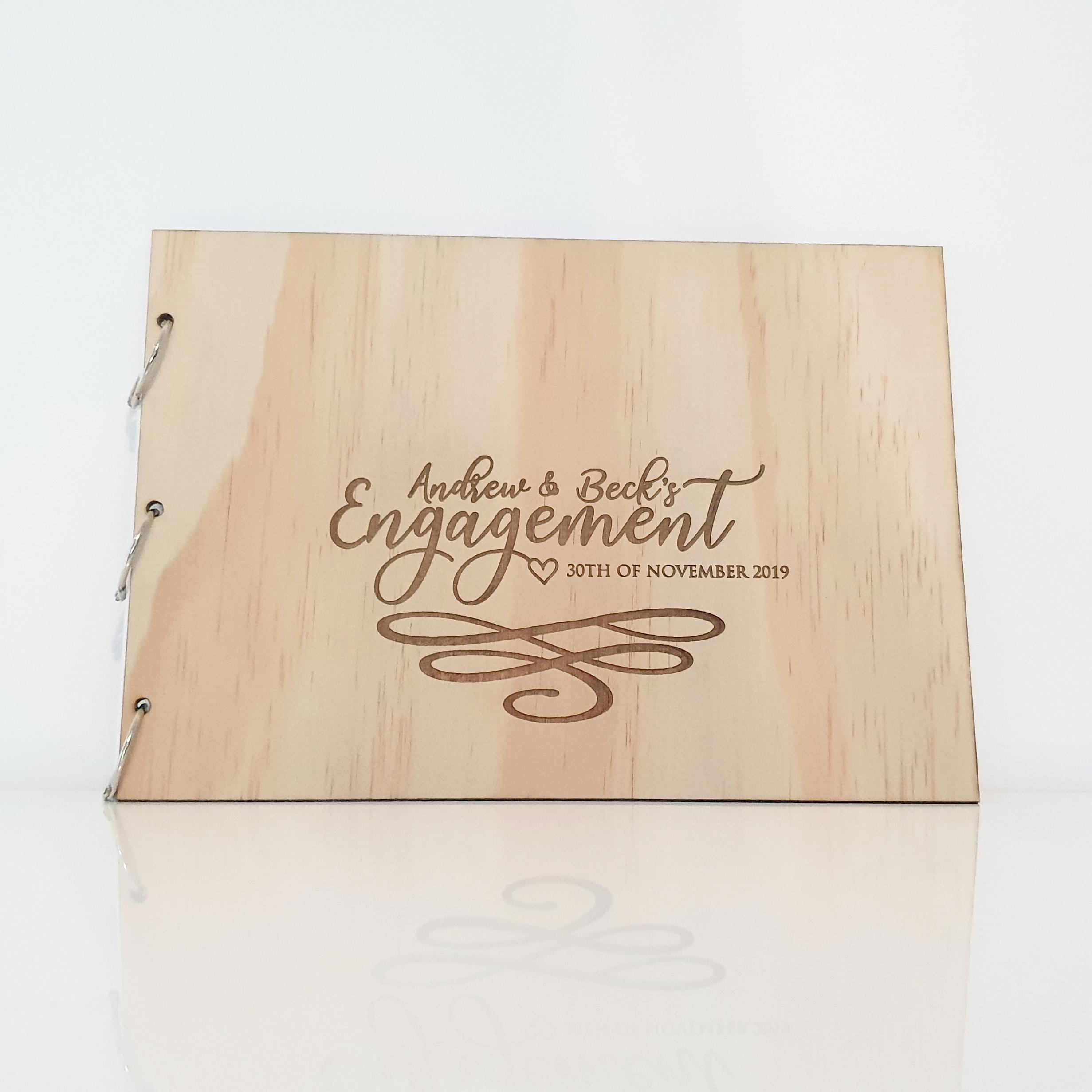 Wooden Laser Engraved Guest Book