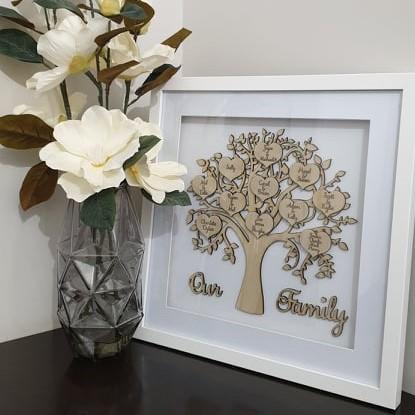 Wooden Family Tree Frame