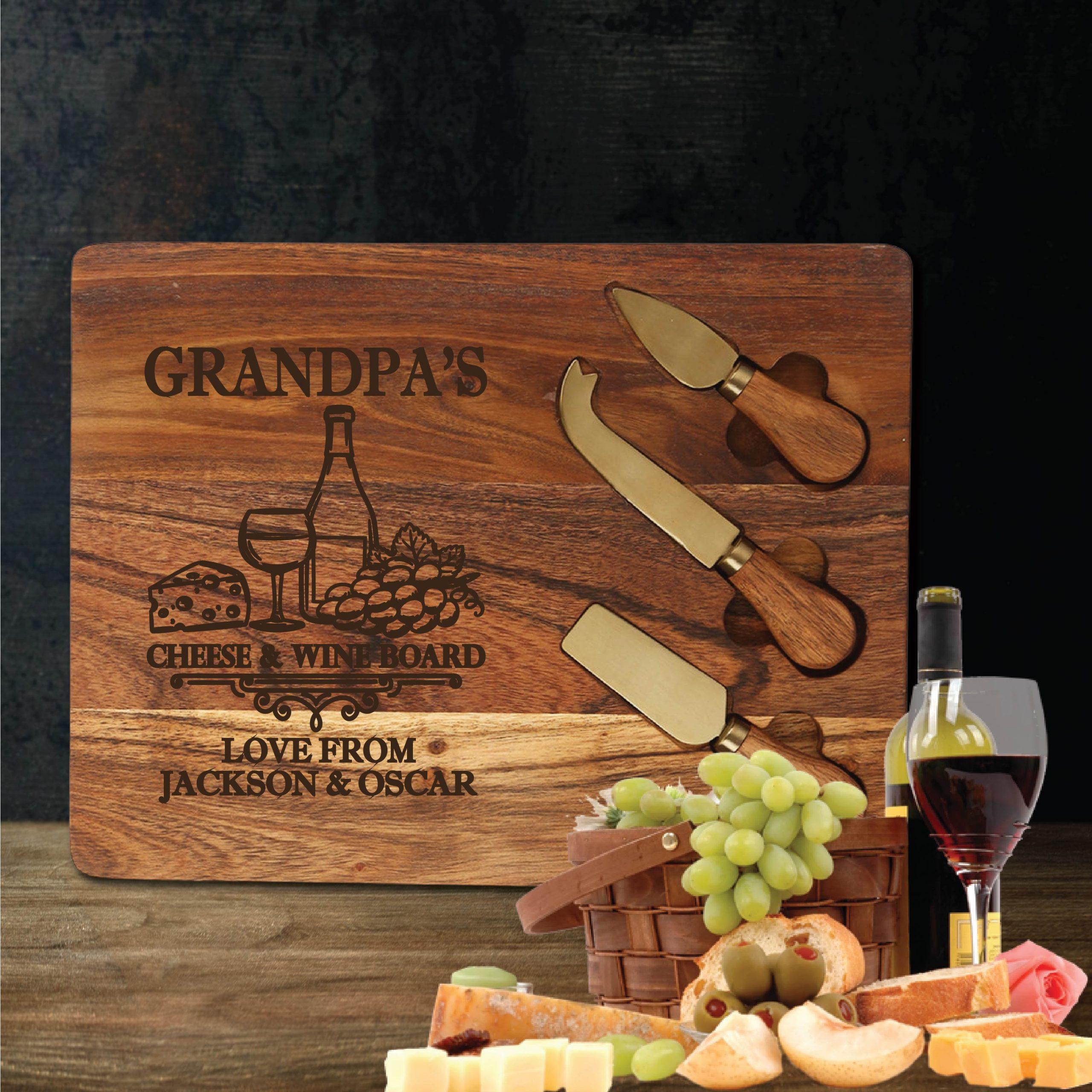 Cheese & Wine Chopping Board