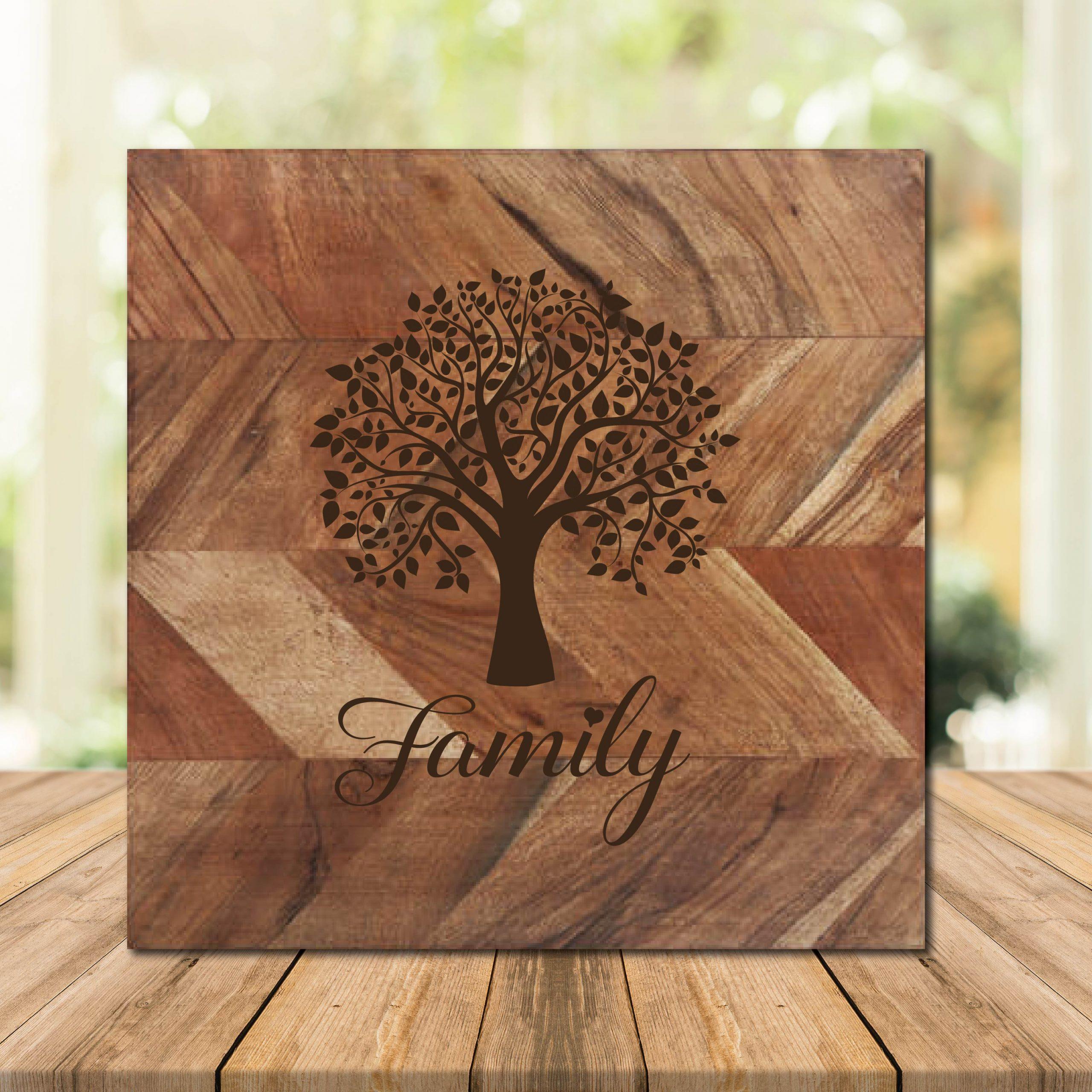 Family Tree Chopping Board