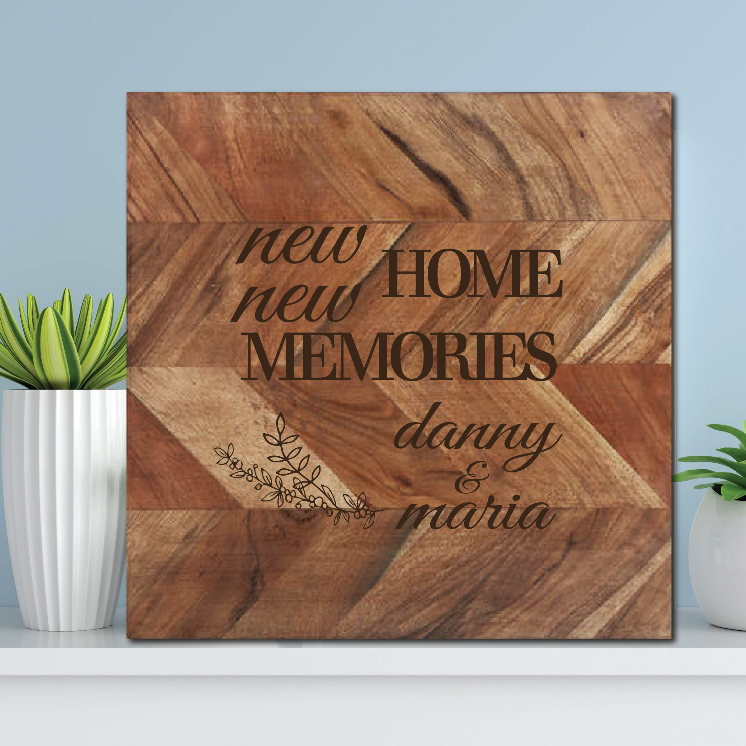 New Home New Memories Chopping Board