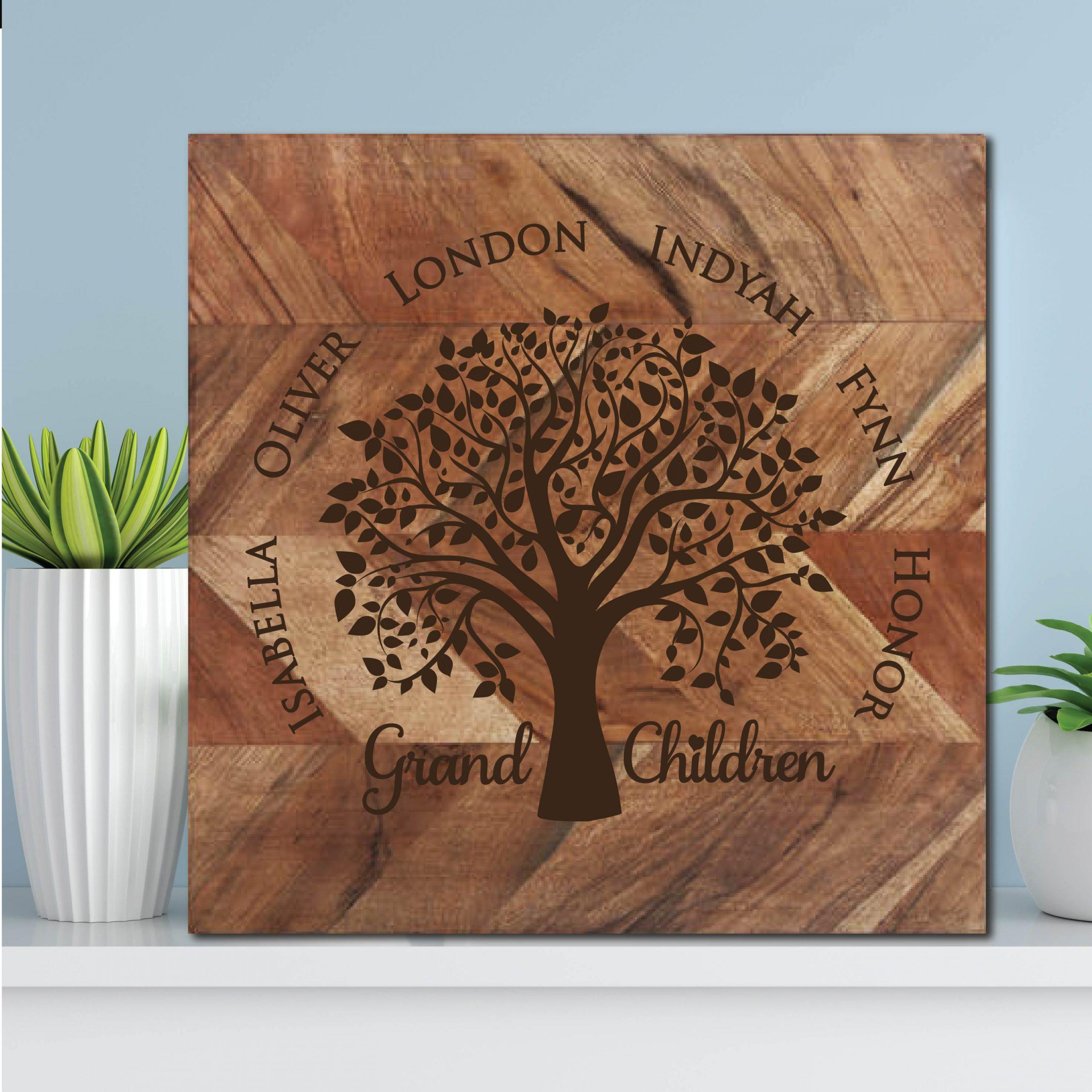 Grand Children Family Tree Chopping Board
