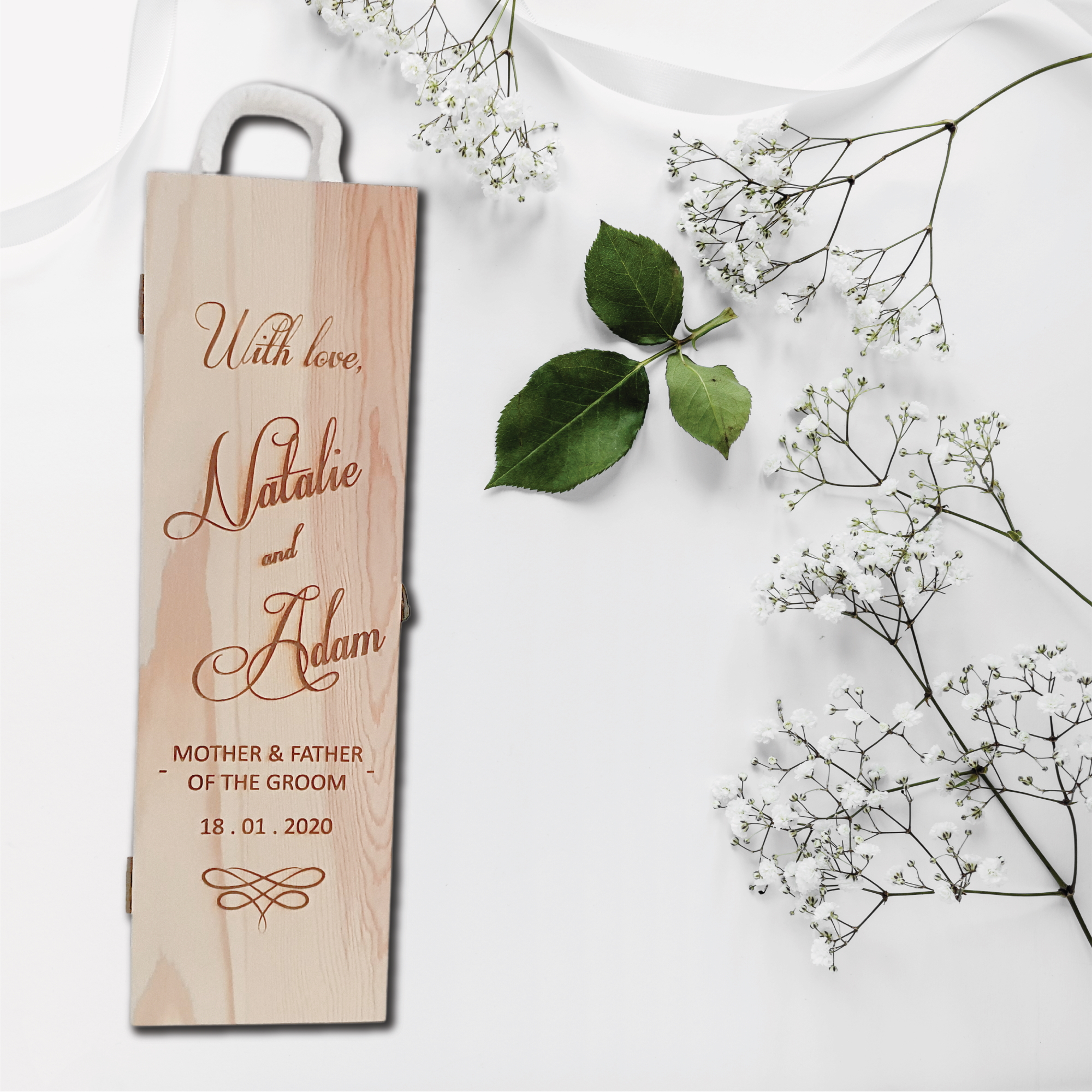 Bridal Party Gift Engraved Wine Box