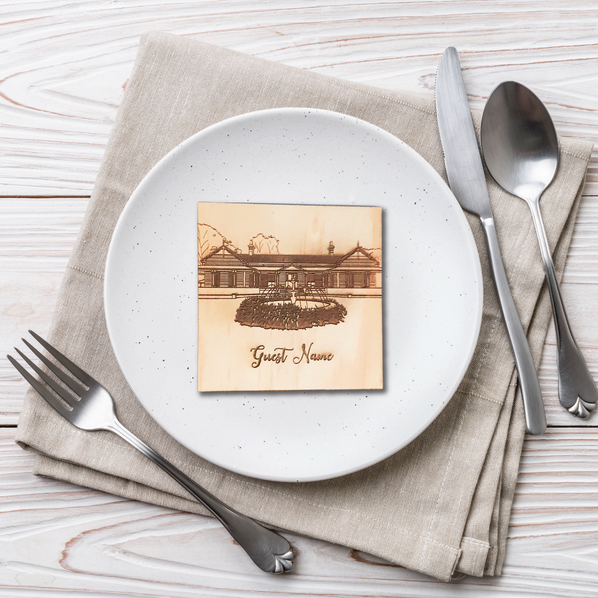 Wooden Engraved Coaster