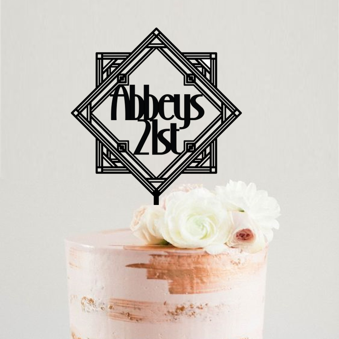 1920's Personalised Art Deco 21st Cake Topper