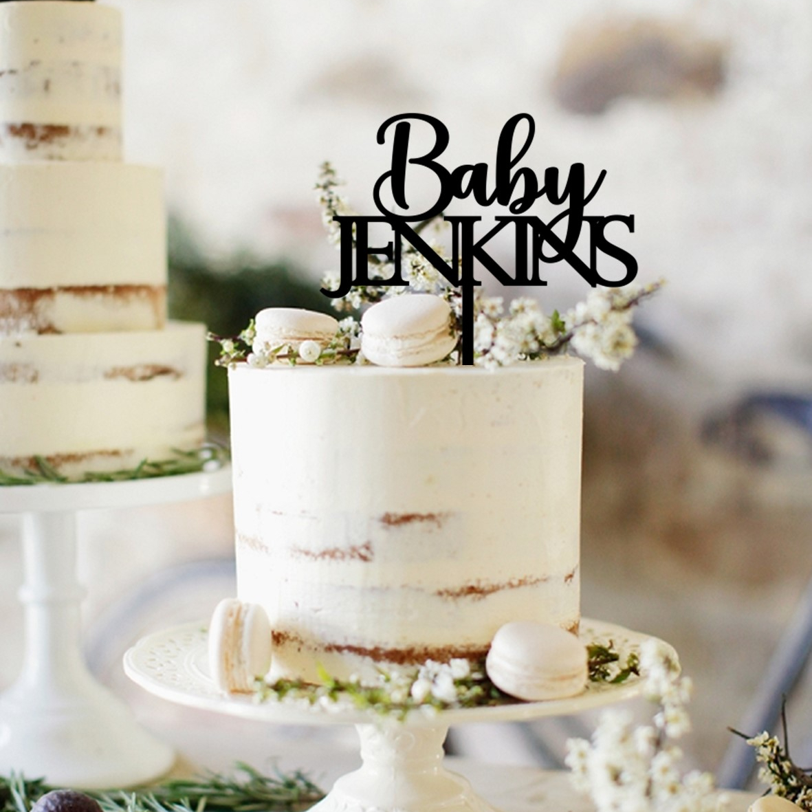 Baby Name CAPITALS Cake Topper