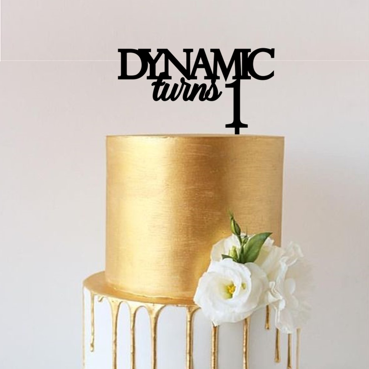 Business Turns 1 Cake Topper