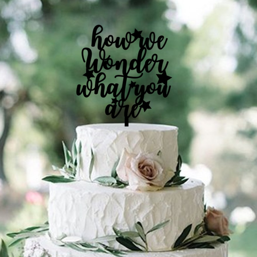 How We Wonder What You Are Stars Cake Topper