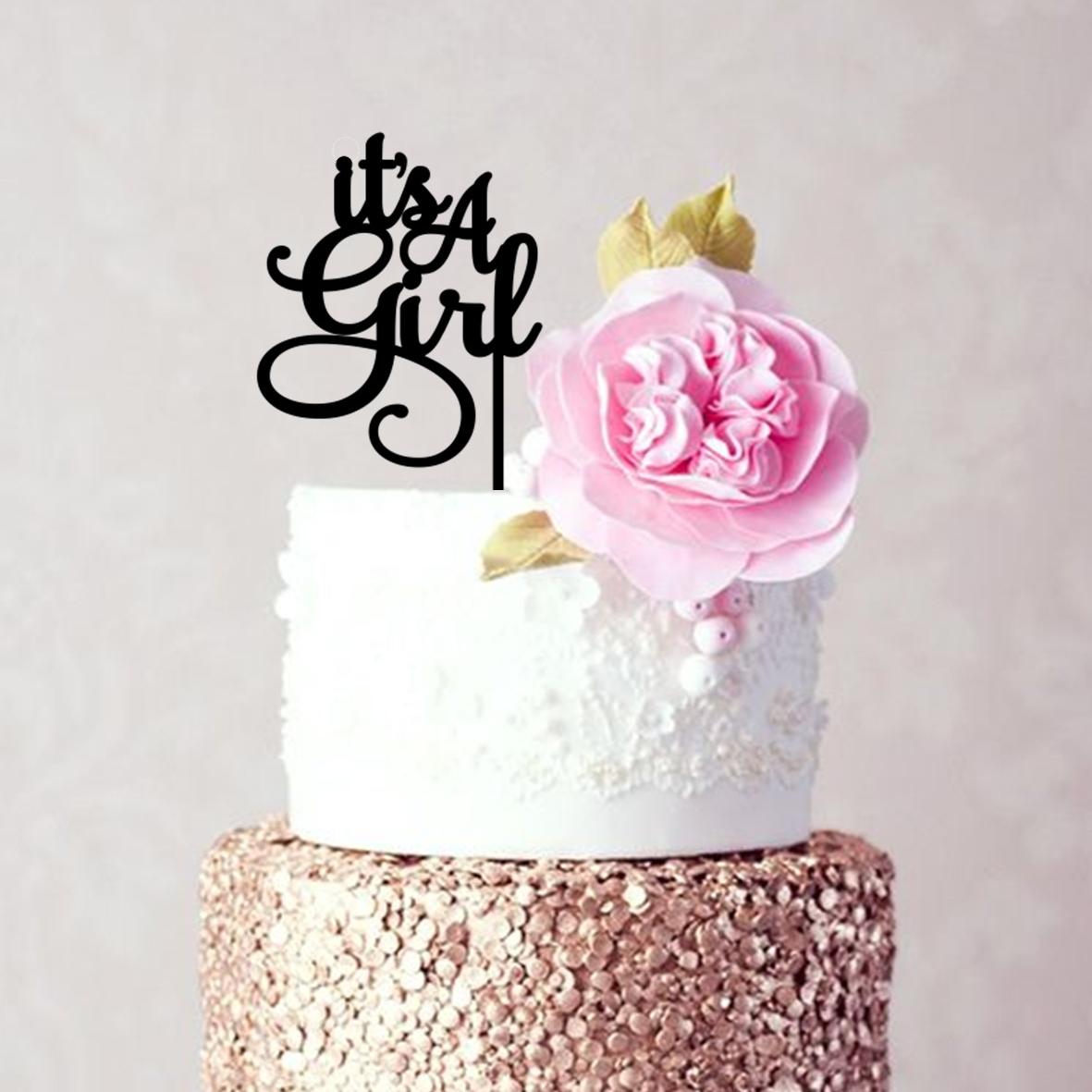It's A Girl Cake Topper