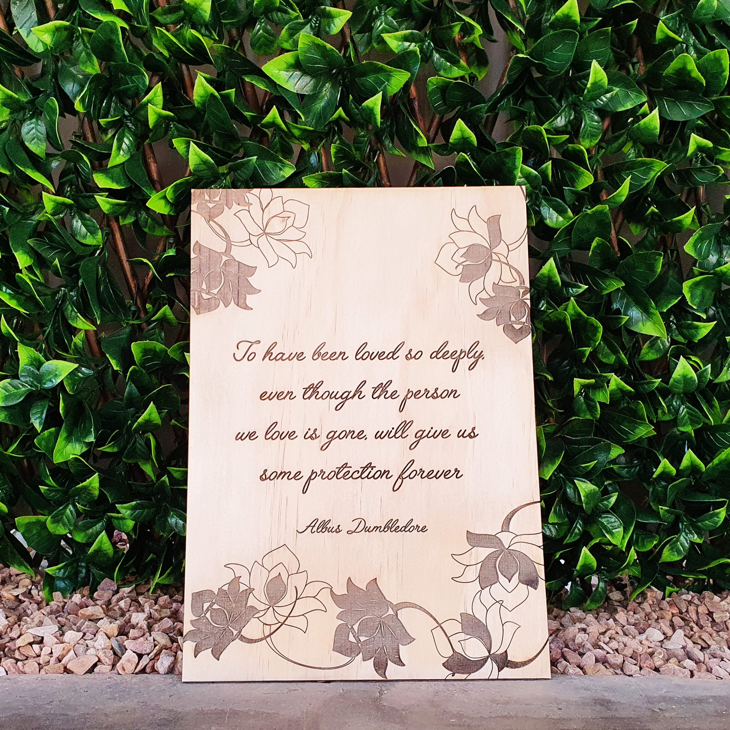 A4 Wooden or Acrylic Engraved Quote Sign