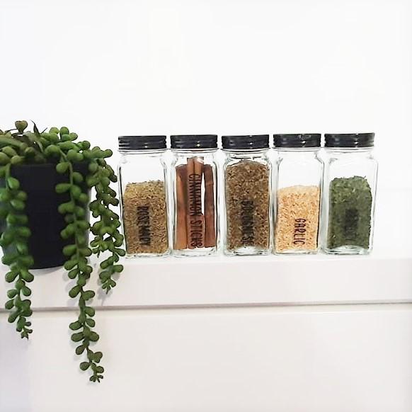 Spice Jar Decal Sticker Labels